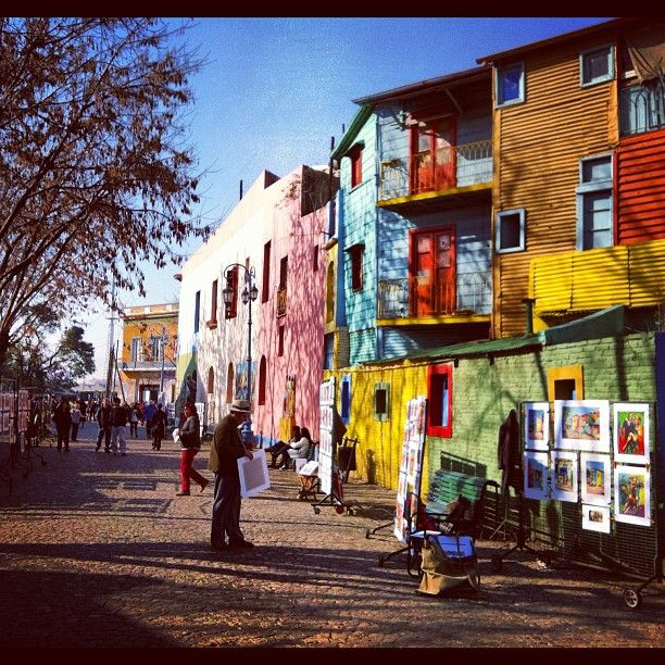 The Beautiful colorful houses look amazing.