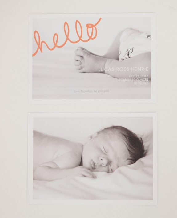 birth announcement / with an i.e.