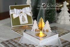 Weihnachtliche Explosionsbox Zauberwald Stampin Up