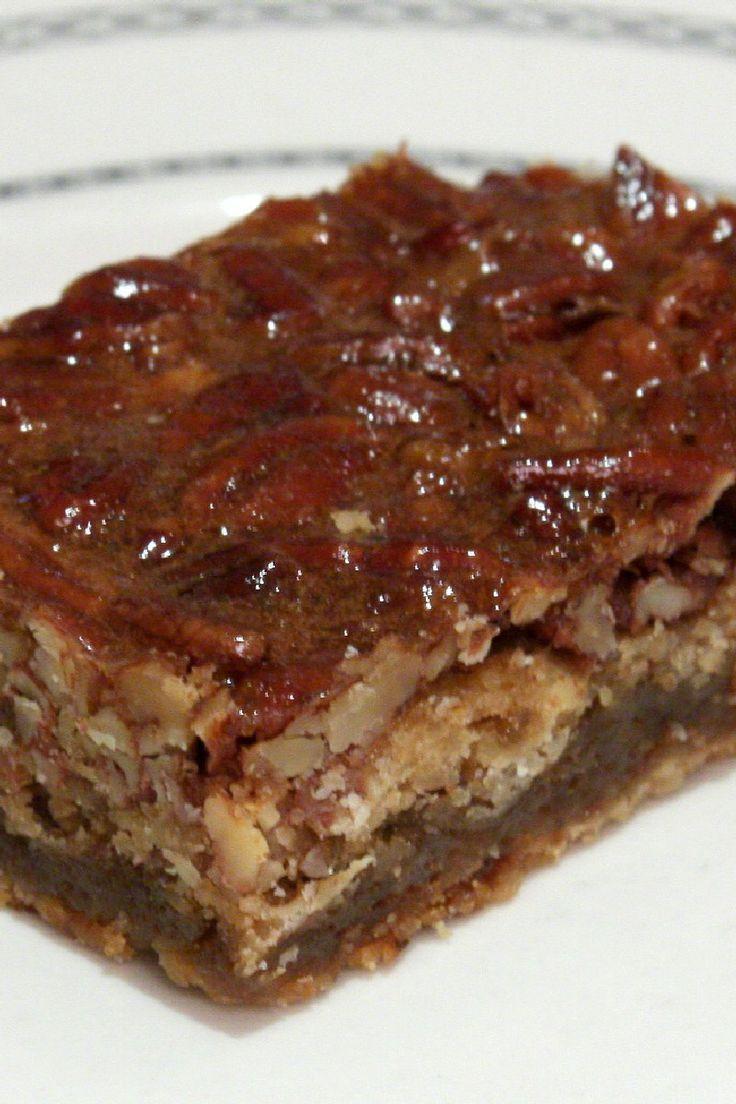 Pecan Pie Bars | All kinds of Sweet Treats | Pinterest