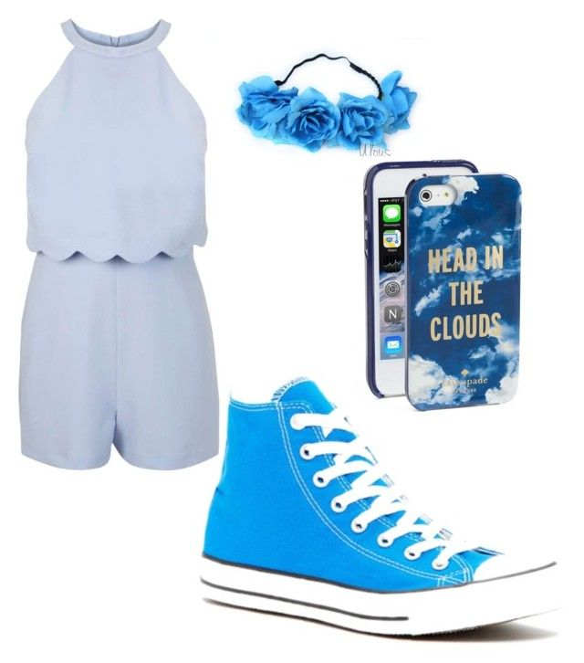 """Baby Blue"" by gaybandfanatic on Polyvore featuring Miss Selfridge, Converse and Kate Spade"