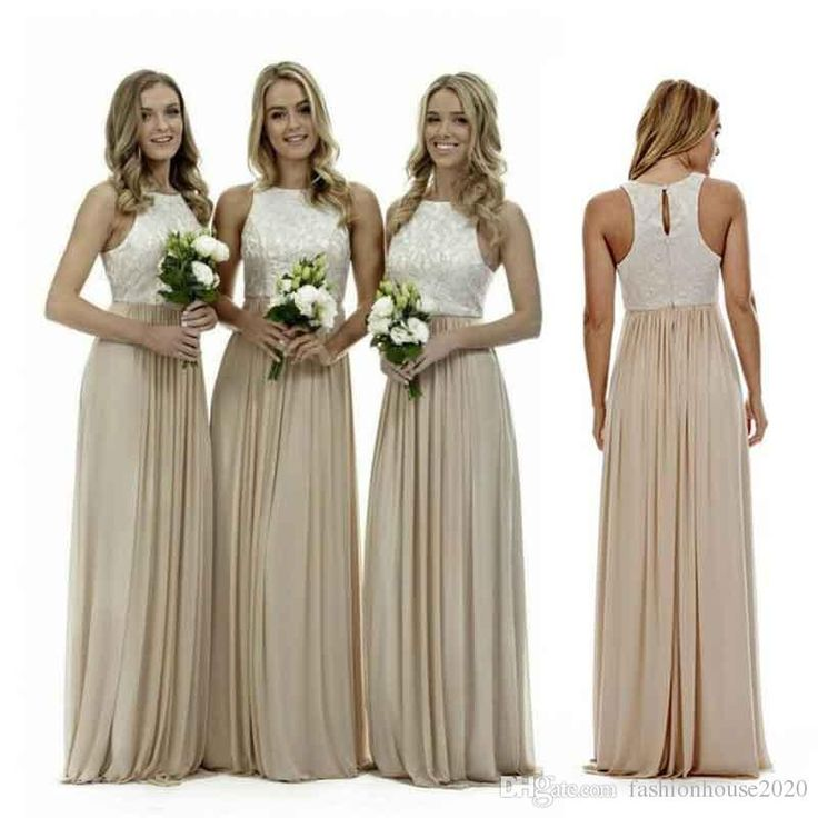Sexy Long Champagne Chiffon Bridesmaid Dresses 2017 Halter Neck Floor Length Lace Bridesmaids Dress Wedding Guest Gowns Maid of Honor Dress Bridesmaid Dresses Champagne Bridesmaid Dresses Bridesmaids Dress Online with $89.15/Piece on Fashionhouse2020's Store | DHgate.com
