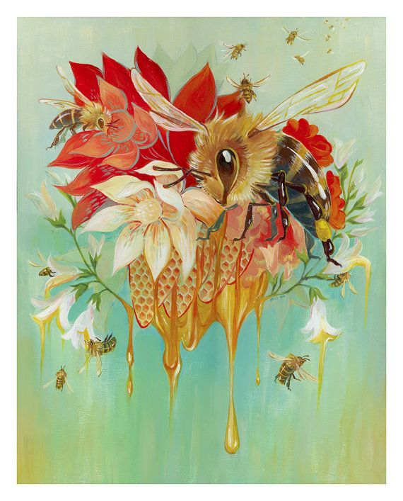 Art Print: OhHoney Bee! All about the bees!