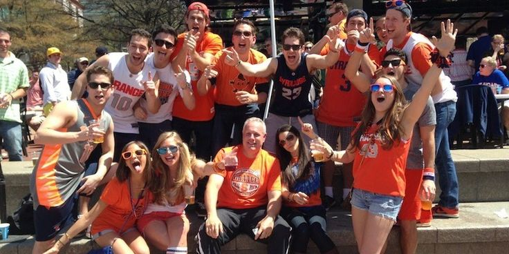 #5 Syracuse University, Syracuse, NY.  Ranked #5 top party schools 2013-2014 by Princeton Review; and #4 of the 20 most fun colleges in America 2014 by Business Insider