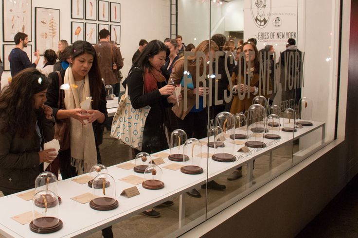 Guild was charted to create the 'Fries of New York' exhibit, a pop-up installation for Sir Kensington that showcased 85 of the best french fries of New York, each cast in resin and displayed in victorian Bell Jars. The event lit the trend bloggers and press on fire as attendees waited in line to see their favorite salty sensation given super star treatment.