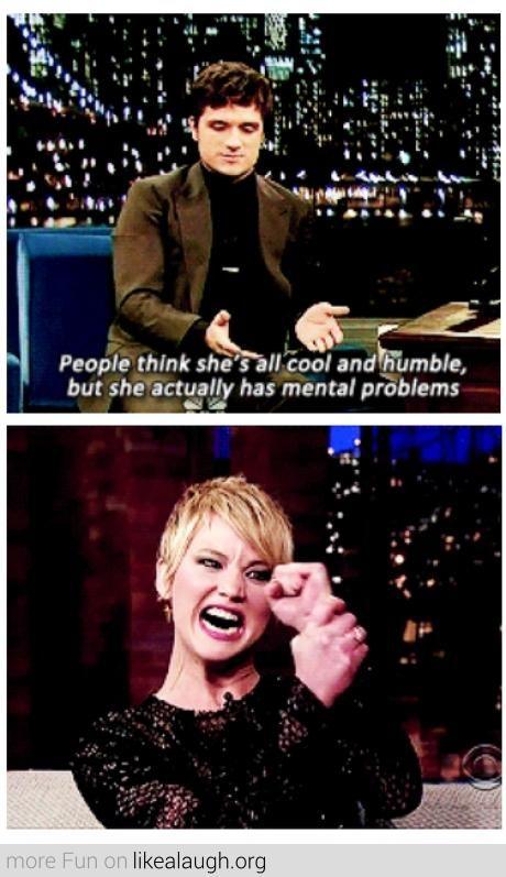 Josh Hutcherson About Jennifer Lawrence.