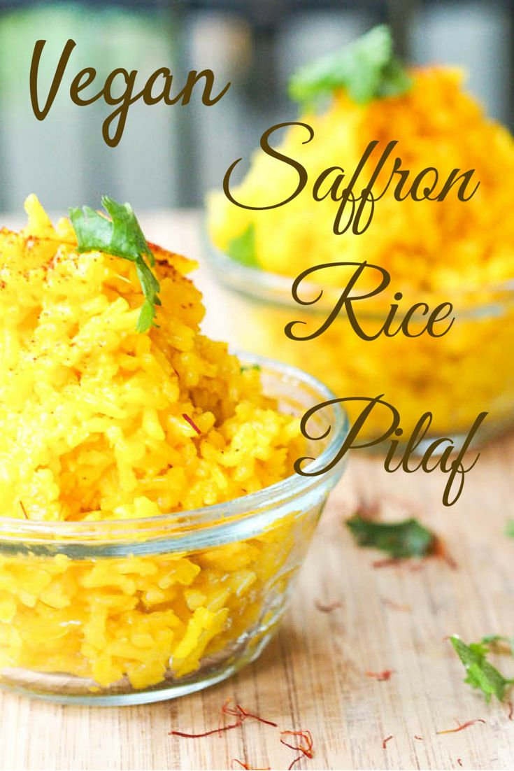A super simple flavorful, vibrant and fluffy rice pilaf made with onions, turmeric and saffron. Vegan and gluten free. Ready in 30 minutes.