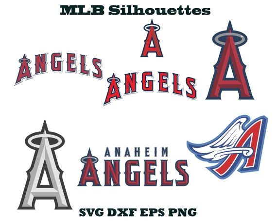 Los Angeles Angels Logo Sports Silhouette Baseball Silhouette La Angels Svg La Angels Eps Angel Angels Logo Vintage Lettering Los Angeles Angels