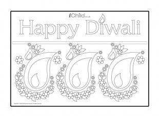 This Diwali poster is perfect to colour in and use as decoration when celebrating Diwali!