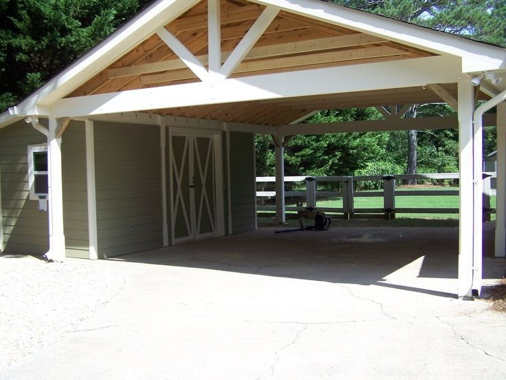 Attached carport carport with attached building car for Garage attached to house