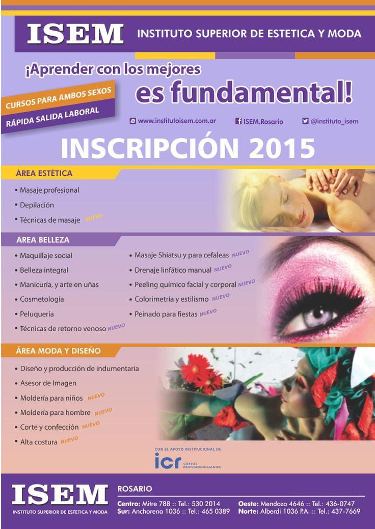 Flyer Inscripción 2015 para ISEM en Rosario