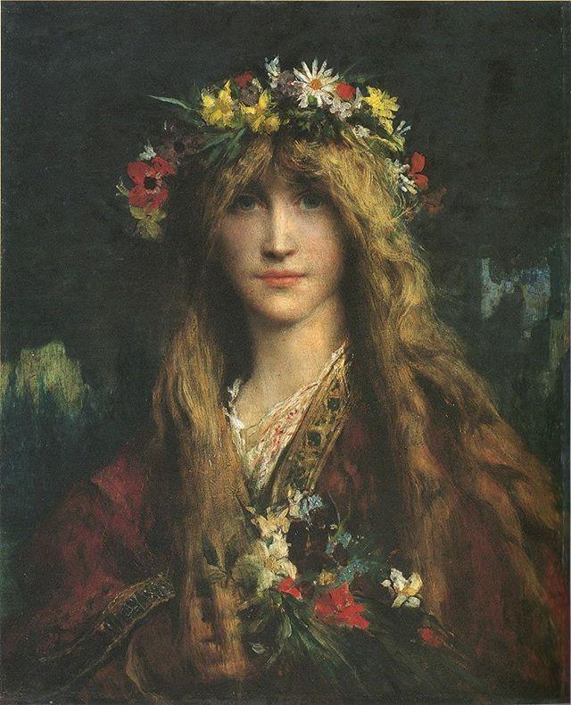 Jules Elie Delaunay Ophelia 1882 Paintingsdaily Paintings