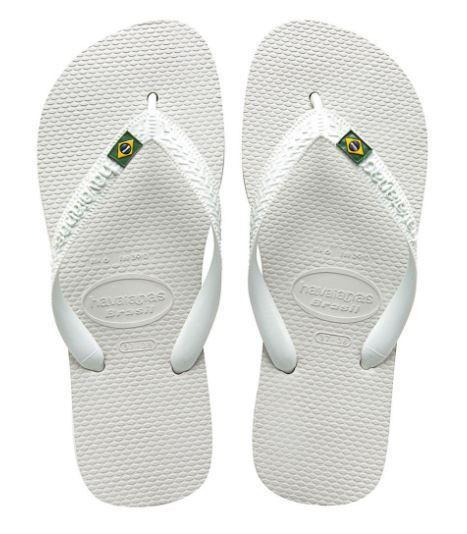 HAVAIANAS BRASIL 4000032 0001 BIANCO White Infradito Verde Giallo Blu Bandiera