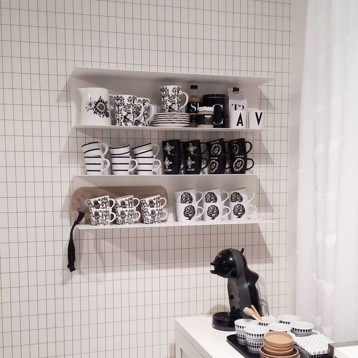Wallpaper / tapetti Ferm Living Grid .. Shelves from Ikea, Botkyrka
