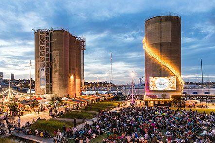 Silo Cinema and Markets each Friday in February 2014. So much fun!