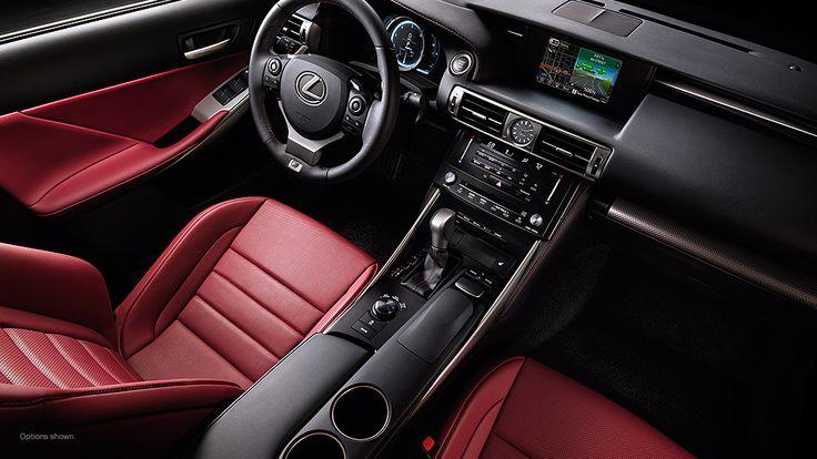lexus 2014 IS F sport interior in Rioja Red NuLuxe trim