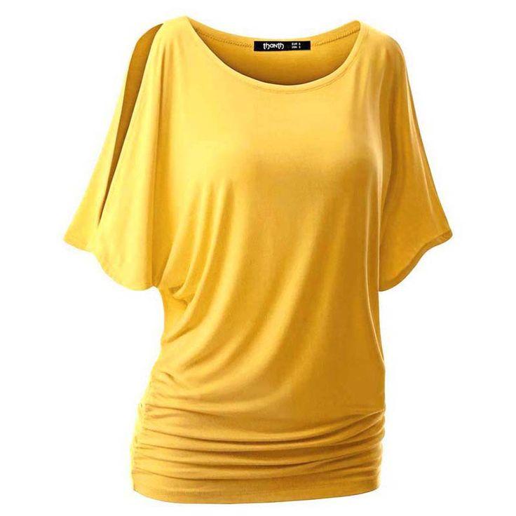 夏綿女性oネックtシャツバットウィング半袖クルーネックカットアウトカジュアルtシャツトップ