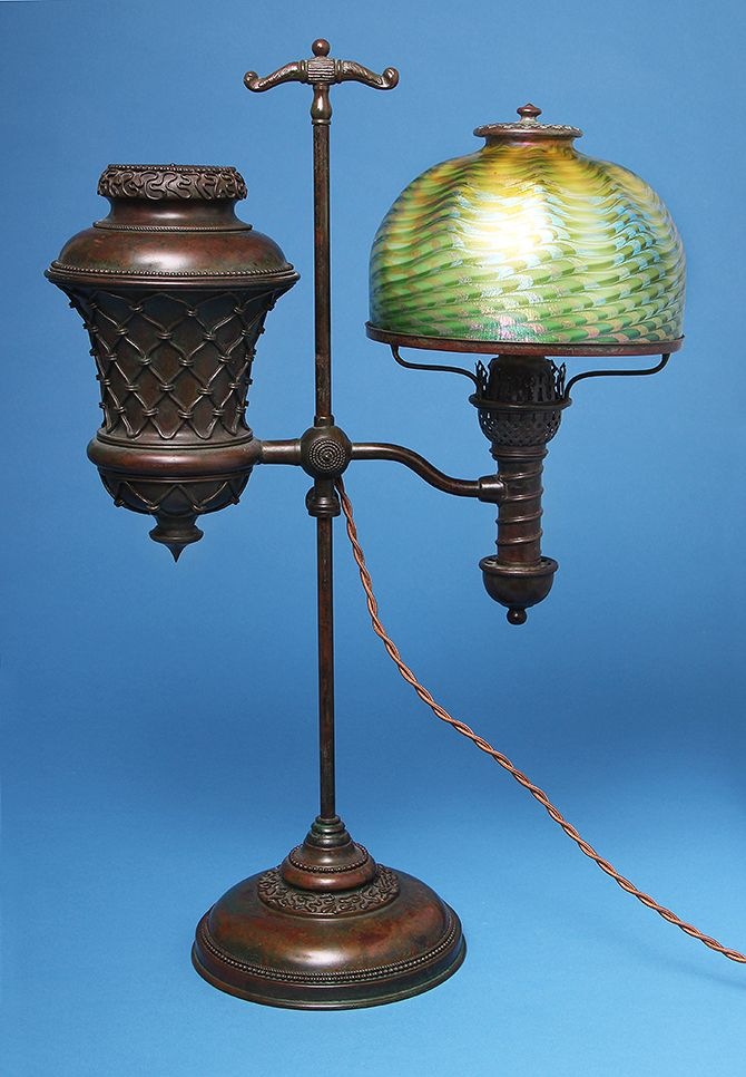Killer Tiffany Favrile student lamp