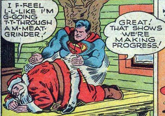 Superman Brutalizes Santa.