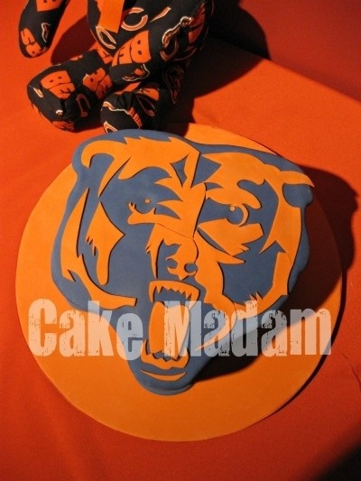 Awesome Chicago Bears Cake!