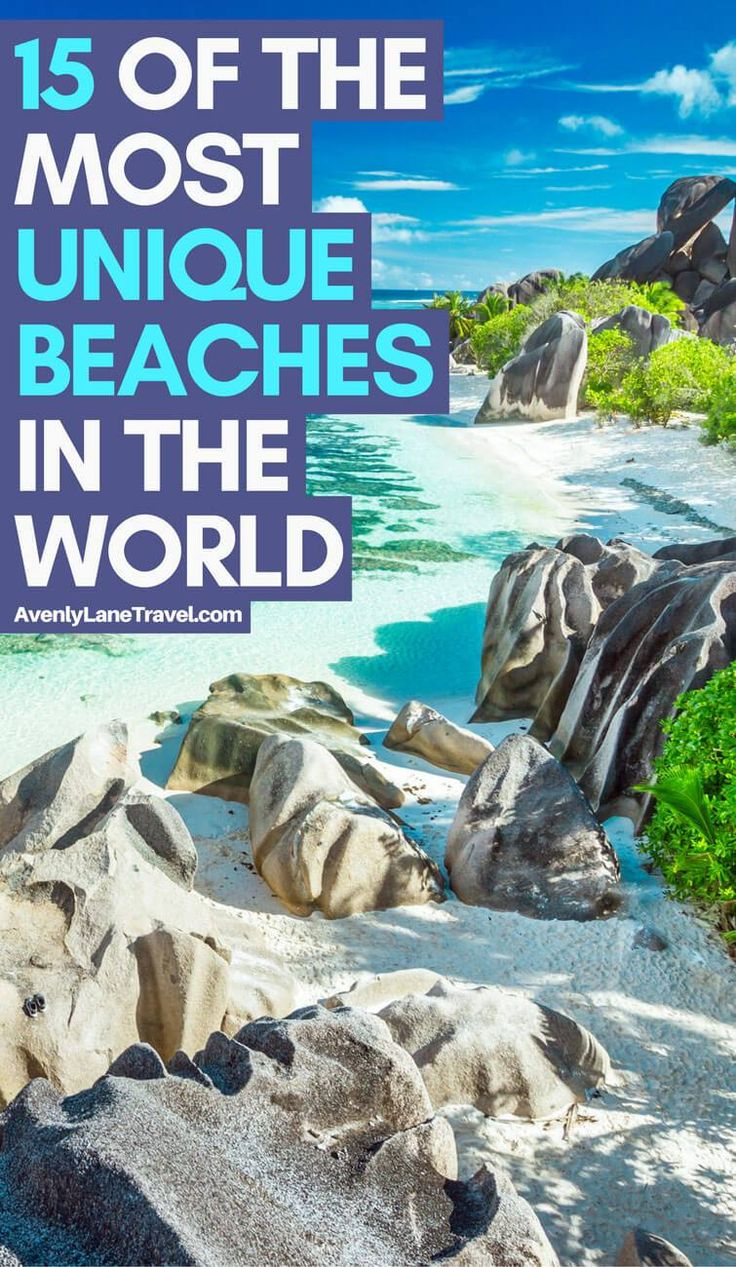 The most unique beaches in the world.