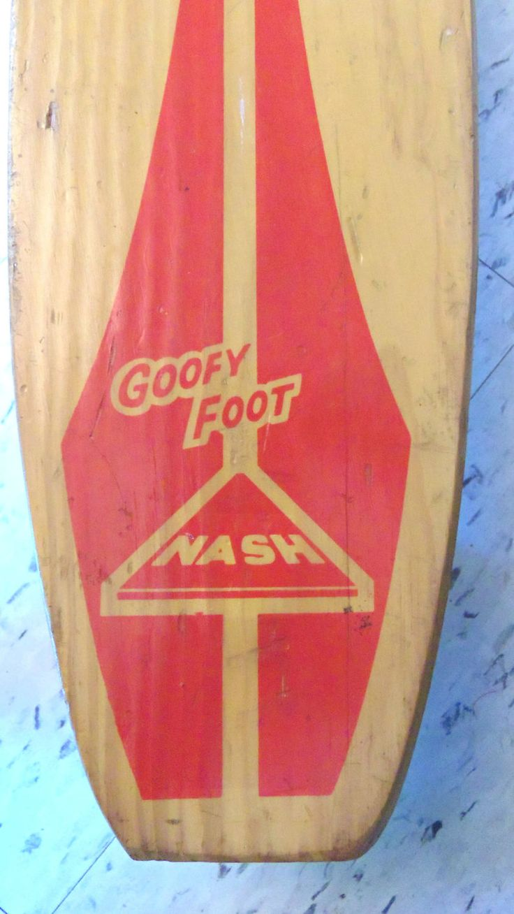 1960s Goofy Foot Vintage Skateboard *Price Includes Domestic Shipping by RetroHut on Etsy