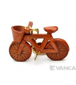 Bicycle Leather Keychain(L)
