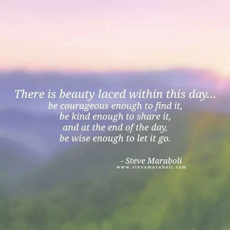 There is beauty laced within this day...