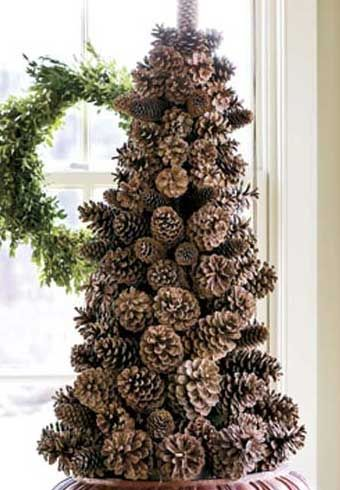 Christmas Tree Decorating Ideas - Pine Cone Tree - Click Pic for 22 Beautiful DIY Christmas Decorations
