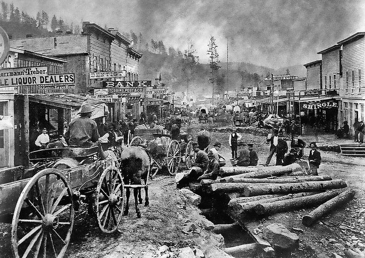 1876: Deadwood as it would have looked to Fox and Maddie when they arrived there...