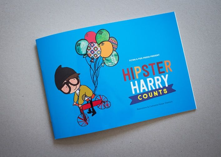 Book reviews by kids, for kids: Hipster Harry Counts ..... Born by the desire to develop a modern-day educational book for toddlers while still being unique and quintessentially Melbourne, Hipster Harry is a five year old Melburnian boy who lives with his family, and of course, enjoys the stereotypical hipster life – babycinos at the cool cafes, all things vintage and riding his fixie trike with his French bulldog...