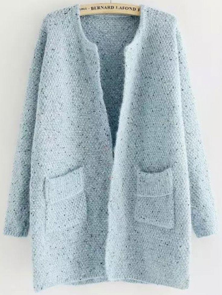 Pockets Long Pale Blue Coat