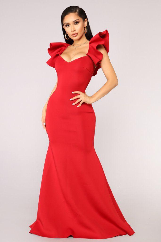 30ad2da35 Salty Babe Mermaid Dress - Red | Fashion Nova | Dresses | Dresses ...