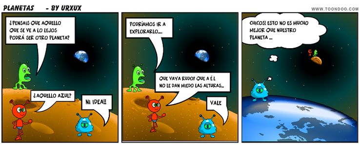 "Comic Toondoo. ""Los Planetas"""