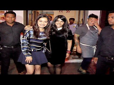 SPOTTED ! Shraddha Kapoor & Ekta Kapoor together at Bastian Restaurant in Mumbai.    Click here to see full video > https://youtu.be/CoGFBcCafsg    #shraddhakapoor #ektakapoor #bollywood #bollywoodnews #bollywoodnewsvilla