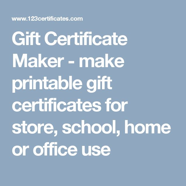 Best 25 certificate maker ideas on pinterest basketball gift certificate maker make printable gift certificates for store school home or office yelopaper Choice Image