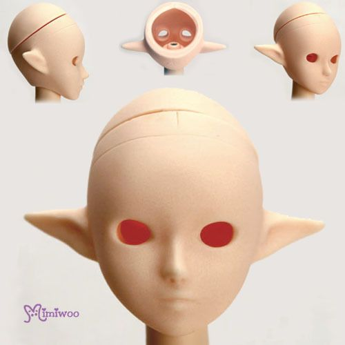 Obitsu 1/6 Figure 25cm 27cm Female Body Open Eye Hole Pixy Elf Ear Head White   eBay