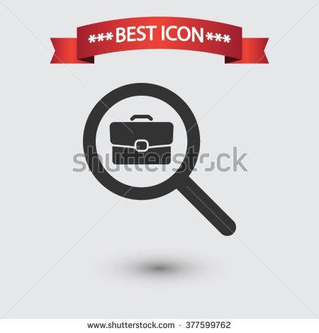 Search job icon vector, Search job icon eps10, Search job icon picture, Search job icon flat, Search job icon, Search job web icon, Search job icon art, Search job icon drawing - stock vector