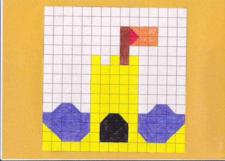 mozaiekplank zandkasteel