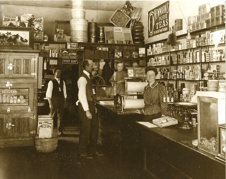 Items in a vintage general store