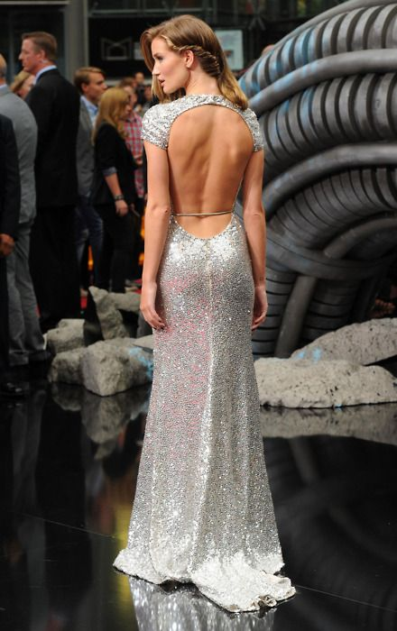 Rosie Huntington Whiteley, Naeem Khan, Fashion, Backless Dresses, Gowns, Red Carpets, Sparkly Dresses, The Dresses, Open Back