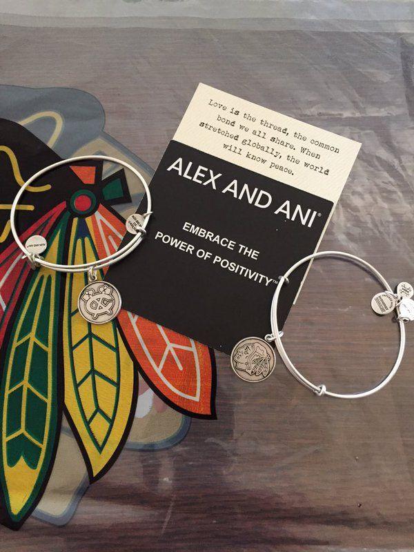 It looks like someone stocked up on #Blackhawks Alex and Ani bracelets!