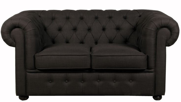 Chesterfield Two Seater Black