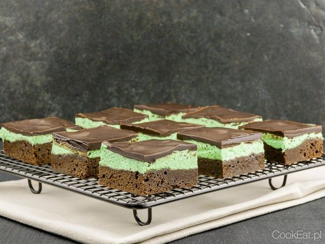 Grasshopper Mint Brownie