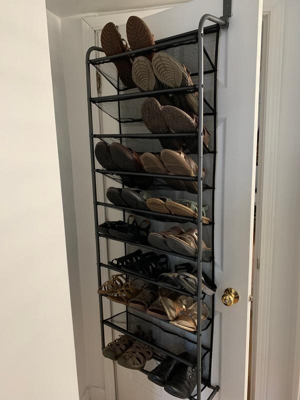 ORG 30-Pair Over The Door Shoe Rack