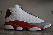 Nike Air Jordan 13 Retro 'Grey Toe' - White/Black-True Red-Cmnt Grey
