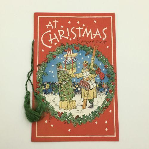 "Vintage ""At Christmas"" Short Story Book Pamphlet Greeting Card USA"
