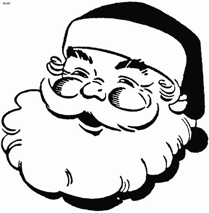 Ausmalbilder für Kinder - Malvorlagen und malbuch • Santa Claus Coloring Pages