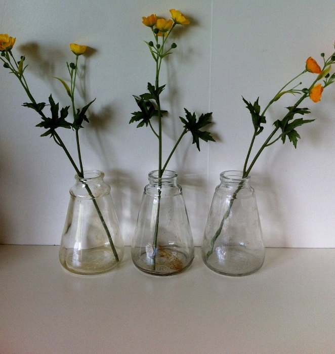 Set of 3 Large Vintage Glass Clag Pots Angus and Co.. $30.00, via Etsy.