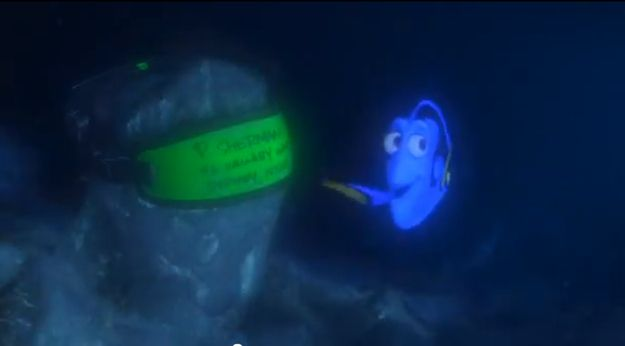 "25 things you didn't know about Finding Nemo.....2. The reason the name on the diver's goggles is P. Sherman is due to the fact that a large part of the film's crew was Filipino, and ""fisherman"" apparently sounds a lot like ""P. Sherman"" in a Filipino accent:"